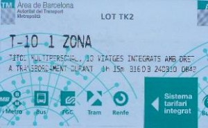 Public Transport Ticket Barcelona